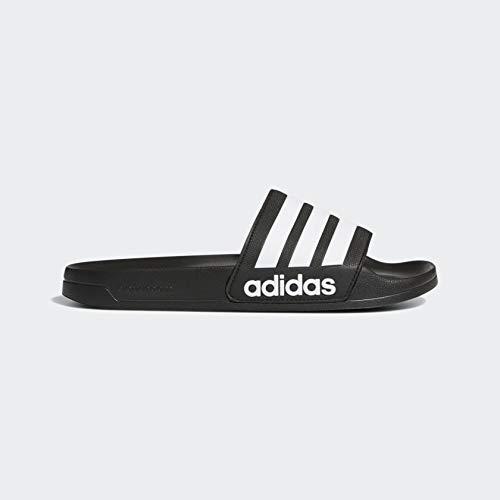 adidas Men's Adilette Shower Slide Sandal, Black/White/Black