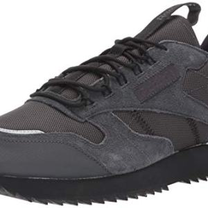 Reebok Men's Classic Leather Ripple Trail Sneaker, Grey/Black/Panton