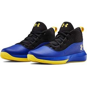 Under Armour Kids' Pre School Lockdown 4 Basketball Shoe, Royal