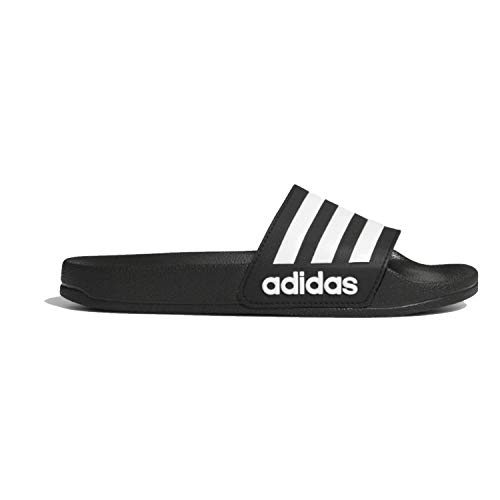 adidas Kids' Adilette Shower Slide, Black/White/Core Black