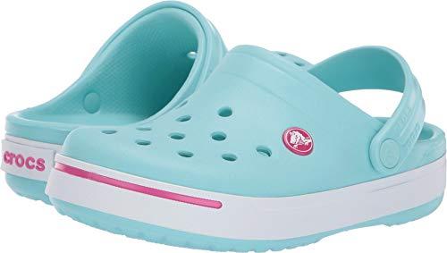 Crocs Kids Crocband II (Toddler/Little Kid) Ice Blue/Candy Pink
