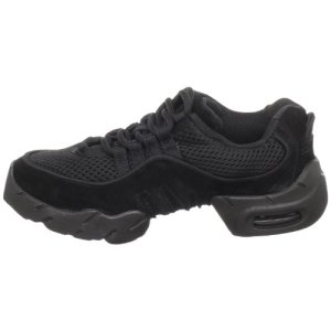 Bloch Girls' Boost MESH Sneaker, Black, 3 X(Medium)