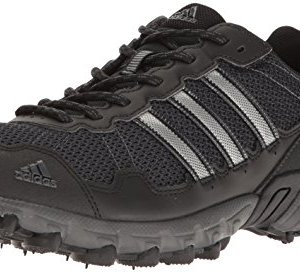 adidas Men's Rockadia Trail M Running Shoe, Black/Black/Dark Grey Heather, 11.5 M US