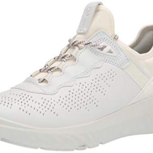 ECCO womens St.1 Lite Sneaker, White/White