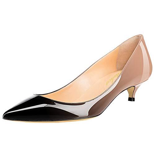Amarantos Women's Patent Leather Slip On Pointed Toe
