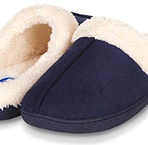 Floopi Womens Indoor Outdoor Fur Lined Clog Slipper