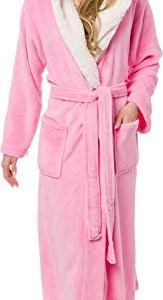 Silver Lilly Full Length Hooded Long Robe