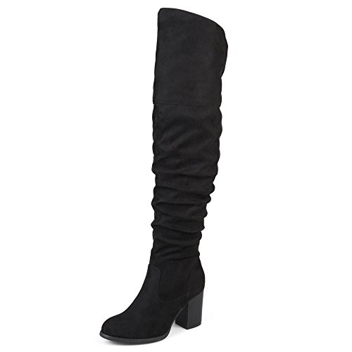 Brinley Co. Womens Regular Over-The-Knee Boots Black