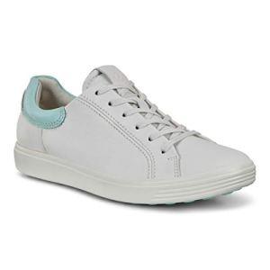 ECCO womens Soft 7 Street Sneaker, White/Eggshell Blue