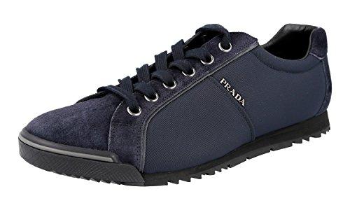 Prada Men's Blue Leather Sneaker US