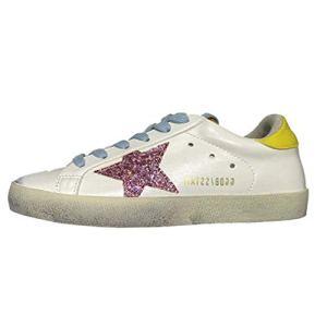 Ksuperk Unisex Leather Luxury Casual Star Sneakers