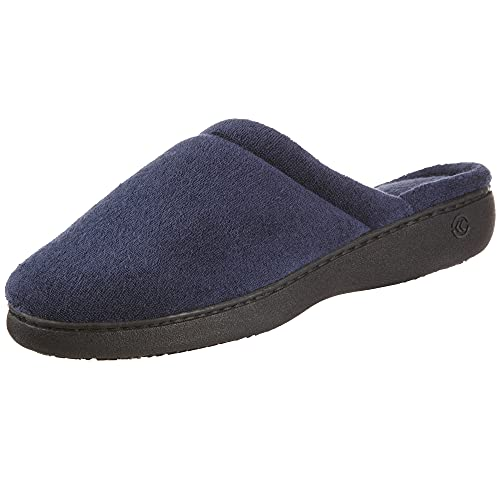 isotoner Women's TerrySlip On Clog Slipper with Memory Foam