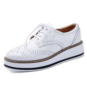 YING LAN Women's Platform Lace-Up Oxfords Shoe