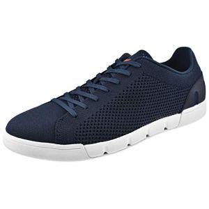 SWIMS Men's Breeze Tennis Knit Sneakers Navy/White