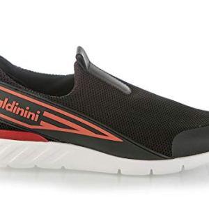 Baldinini Black Neoprene High Tech.Fabric Italian Designer Men Sneakers