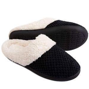 ULTRAIDEAS Women's Comfort Coral Fleece Memory Foam Slippers