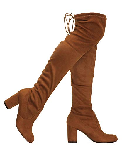 MVE Shoes Women's Thigh High Over The Knee Adjustable Fit