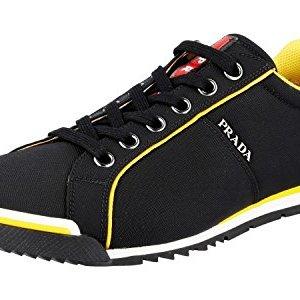 Prada Men's Black Leather Sneaker US