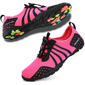 hiitave Womens Aqua Beach Water Shoes Quick Dry