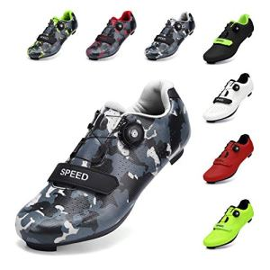 SWISSWELL Men's Road Cycling Shoes Compatible Mountain Bike