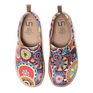 UIN Women's Blossom Painted Fashion Sneaker