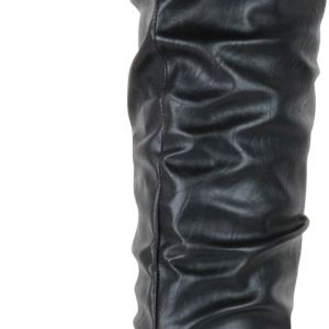 Cambridge Select Women's Closed Toe Slouch Flat Over The Knee Boot