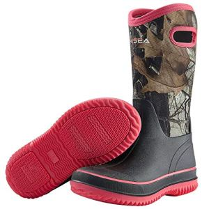 Hisea Rain Boots for Women Mid Calf Muck Rubber Boots