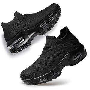 PDBQ Womens Walking Shoes Sock Sneakers