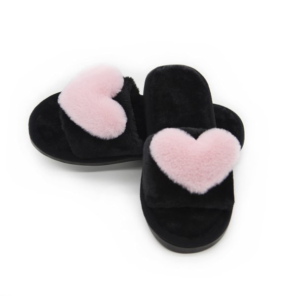 Women's Fuzzy Fluffy Furry Fur Slippers