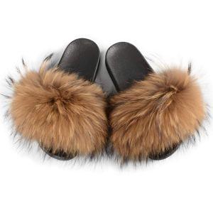 Furry Slides Fashion Flat Soles Soft Summer Sandals