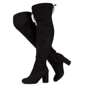 RF ROOM OF FASHION Women's Over The Knee Stretch Boots