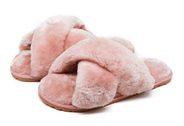 Furry Fur Slippers Flip Flop Winter Warm Cozy