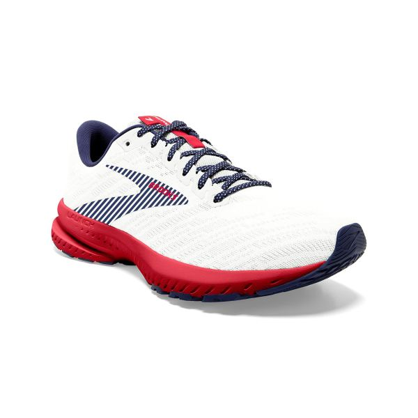 Brooks Launch 7 White/Blue/Red