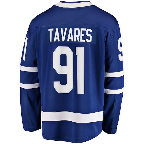 73f79123e ... Men s Toronto Maple Leafs John Tavares Fanatics Branded Blue Home  Breakaway. 🔍. Previous  Next