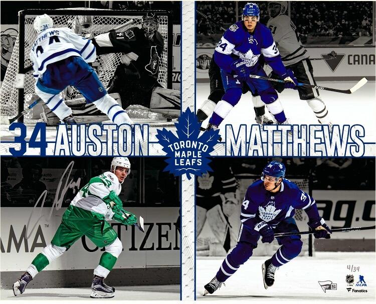 Auston Matthews Maple Leafs Fanatics Auto 16 x 20 Custom Collage ... 383220fc7