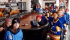 National Hockey Card Day 2019 kids group photo