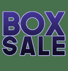 Graphic reading 'BOX SALE'