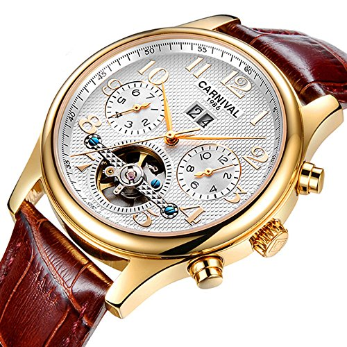 Fanmis Luxury White Dial Stainless Steel Automatic Watches