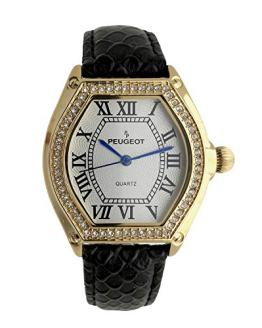 Peugeot Women's Watch 14K Gold Plated with Crystal Bezel