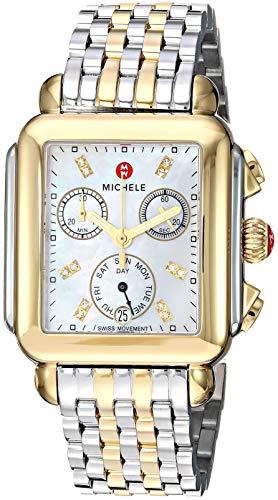 Michele Deco Twelve Diamonds Chronograph 18k Two Tone Women's Watch
