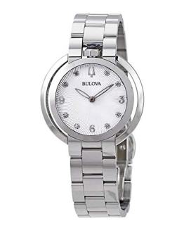 Ladies' Bulova Rubaiyat Diamond Stainless Steel Watch
