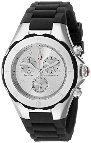 MICHELE Tahitian Jelly Bean Large Black Stainless Steel Dial