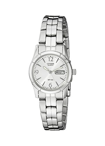 Citizen Women's Quartz Silver-Tone Watch with Day/Date display