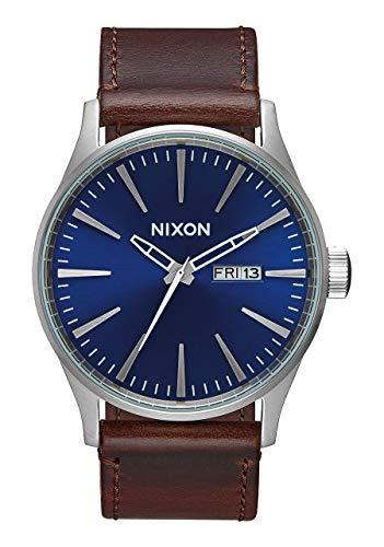 Nixon Men's 'Sentry Leather' Quartz Stainless Steel Sport Watch