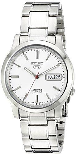 Seiko Men's SNK789 Seiko 5 Automatic Stainless Steel Watch with White Dial