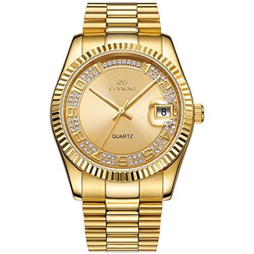 BUREI Luxury Men's Quartz Wrist Watch Japanese Quartz