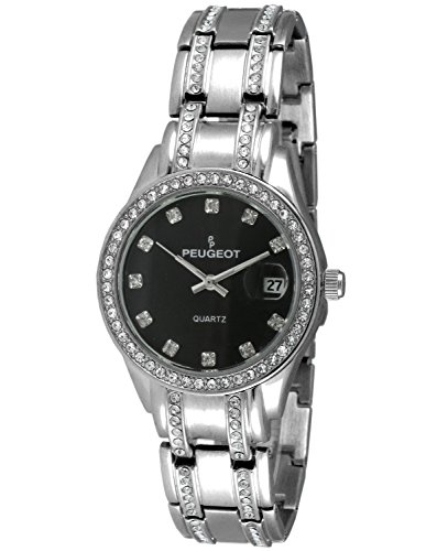 Peugeot Women's 'Crystal' Quartz Metal and Stainless Steel Dress Watch