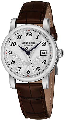 Montblanc 107315 Star White Dial Brown Strap Men's Watch