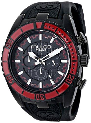 MULCO Unisex Titan Wave Analog Display Japanese Quartz Black Watch