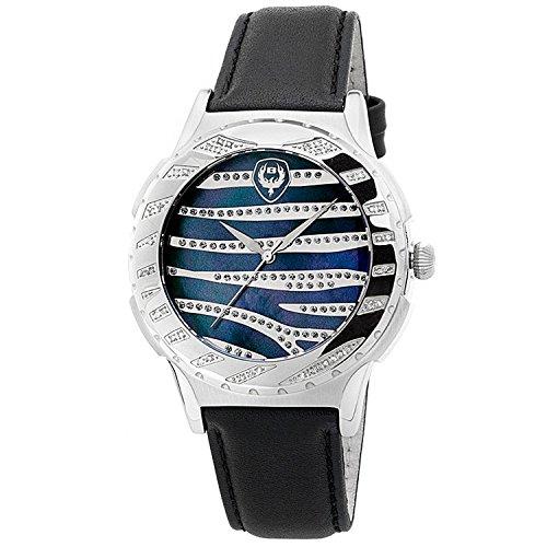 "Brillier Unisex ""Kalypso"" Diamond-Accented Stainless Steel Watch"